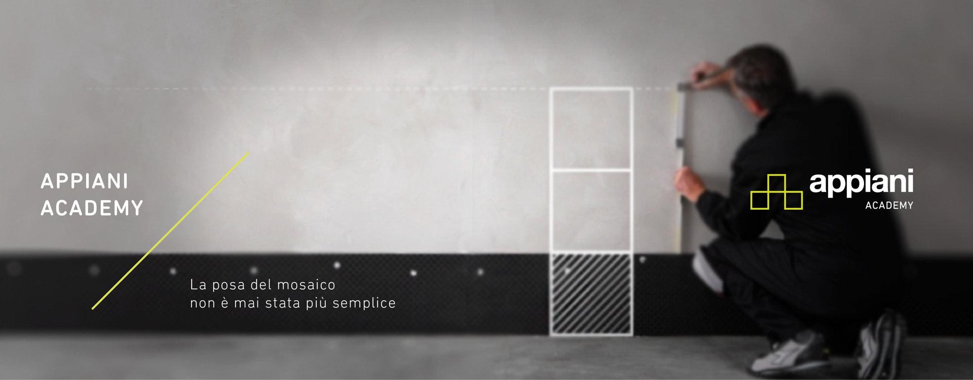 Appiani Academy, piattaforma eLearning per posare il mosaico ceramico.