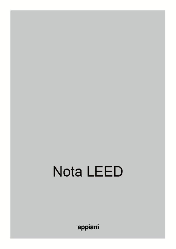 Nota LEED Centro Ceramico