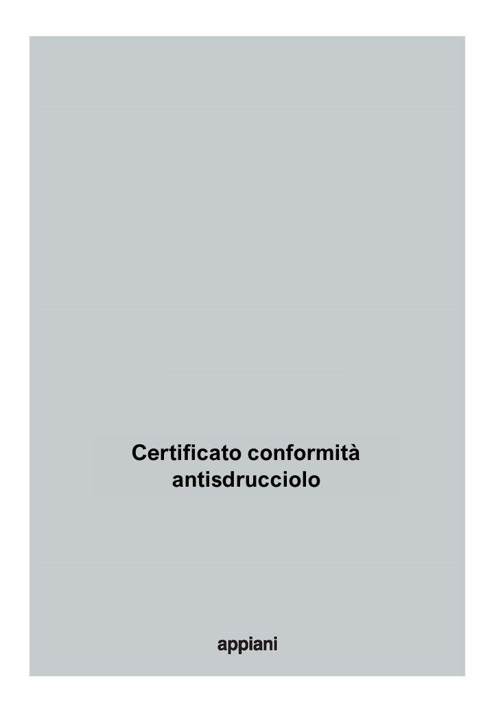 certificato conformità antisdrucciolo
