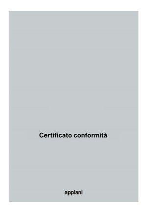 Certificato conformità