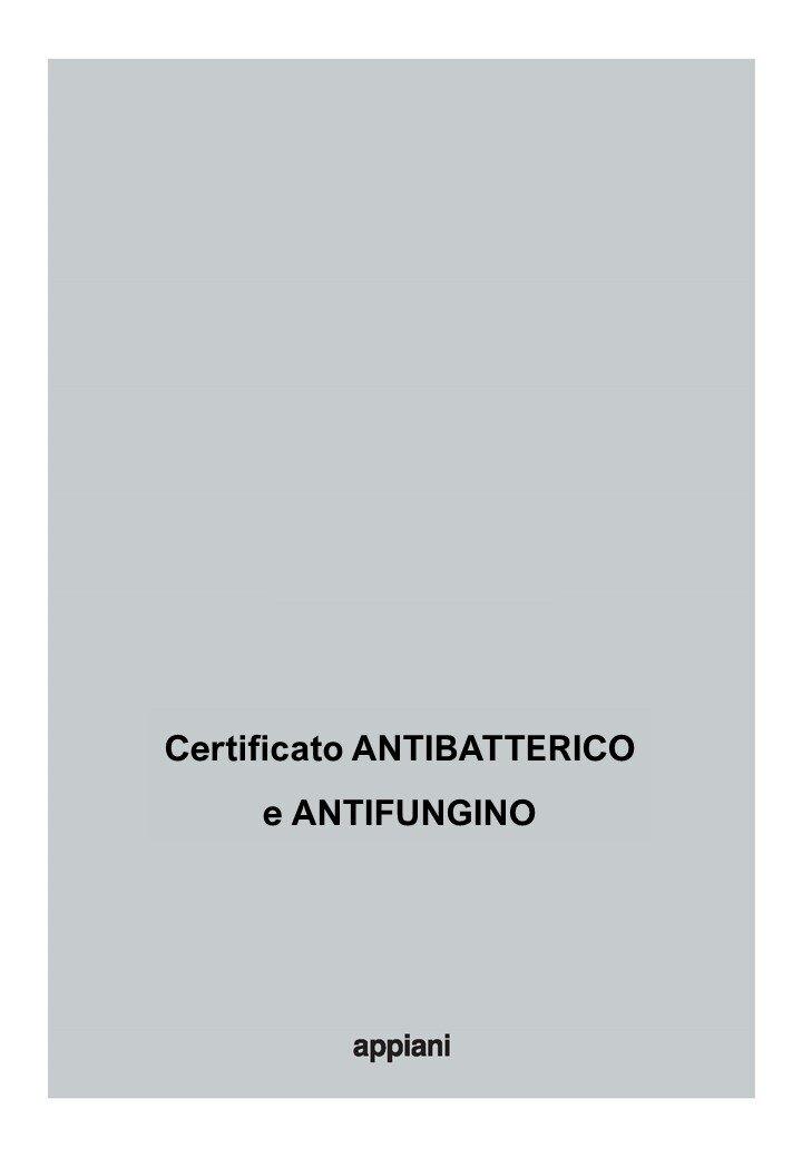ANTIBATTERICO e ANTIFUNGINO